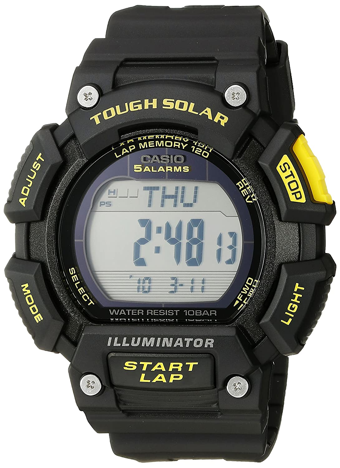 Amazon.com: Casio Mens STL-S110H-1CCR Tough Solar Runner Digital Black Watch: Watches