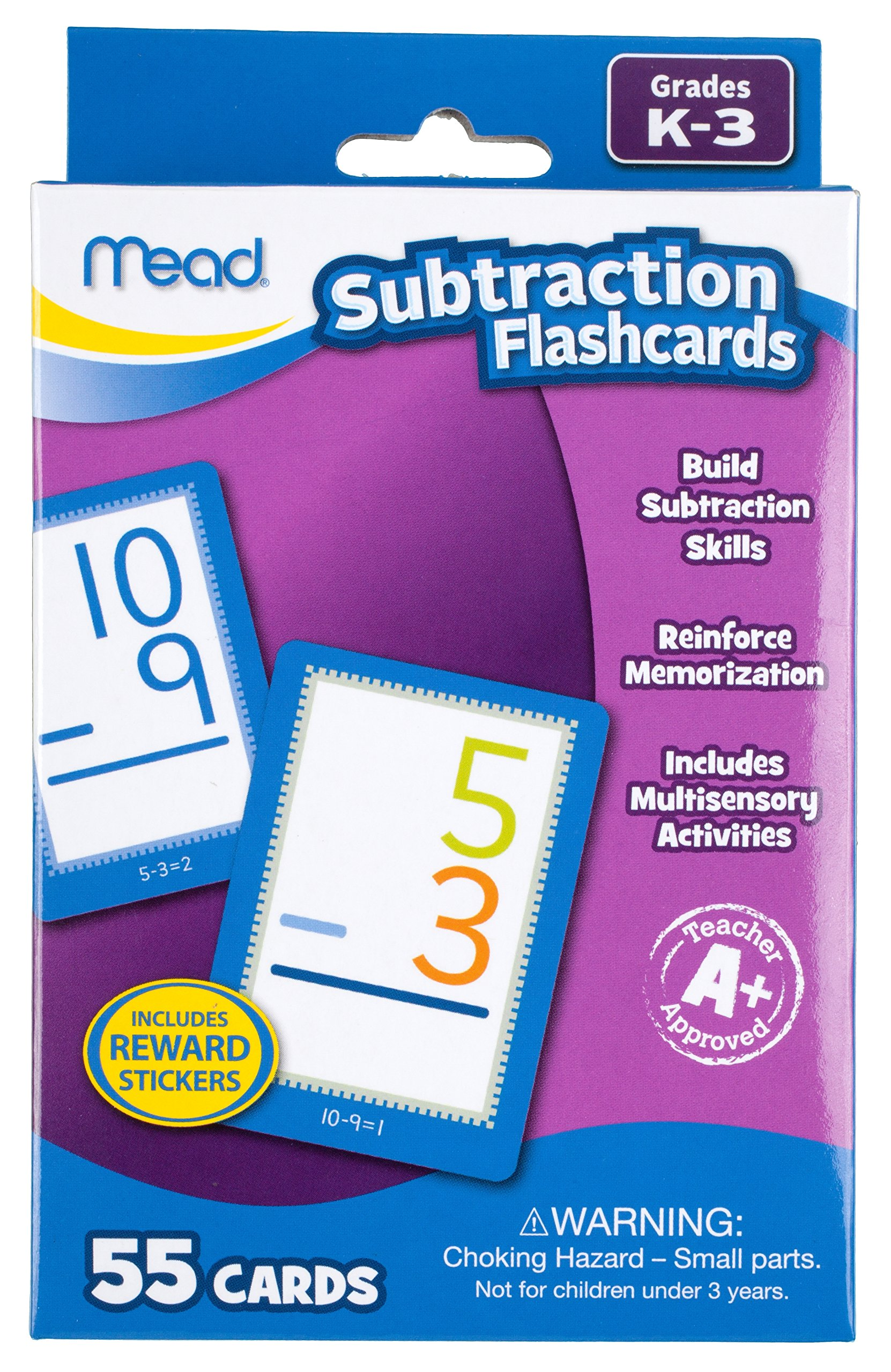 Mead Subtraction Flashcards, 55 Cards, Grades K-3 (63040)