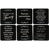 Lavley Set of 6 Novelty Coasters