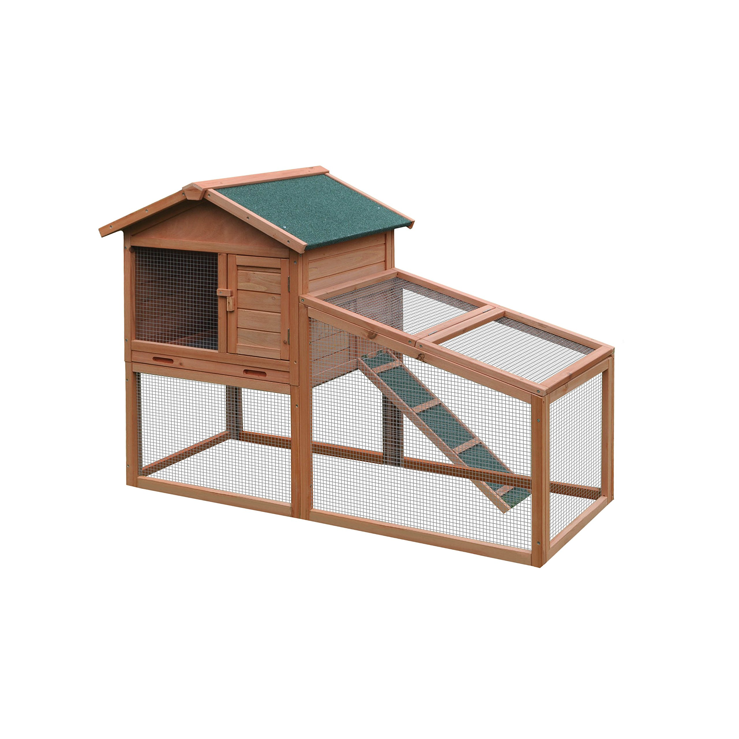 ALEKO ACCRH56X25X39 Wooden Pet House Poultry Hutch, Rabbits Chickens Hen Coop Wooden Cage 56.5 x 25.6 x 39.4 Inches
