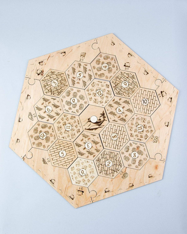 Custom Number Tokens for Settlers of Catan 28 number tiles Laser Cut. Wood