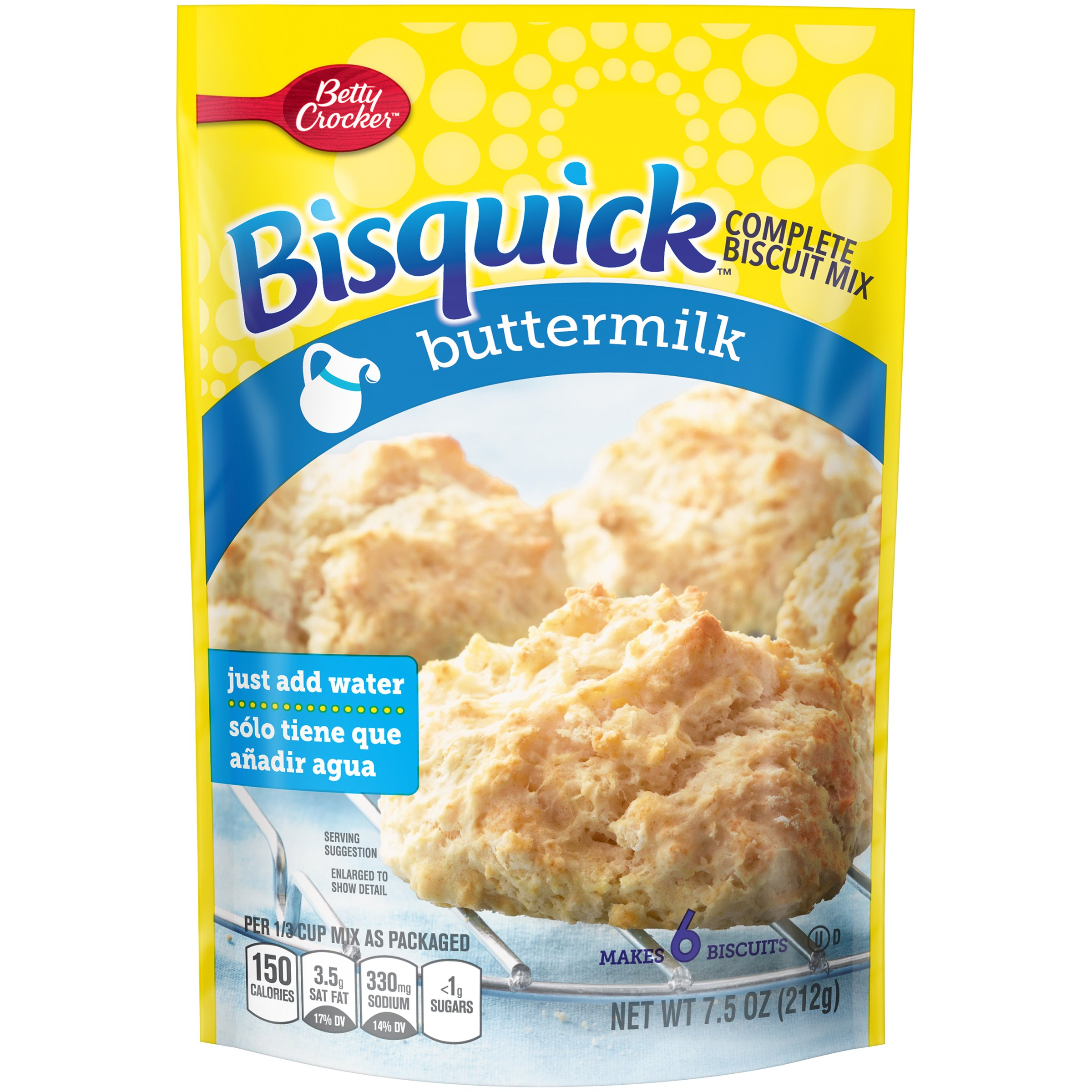 Bisquick Complete Mix, Buttermilk, 7.5 Ounce