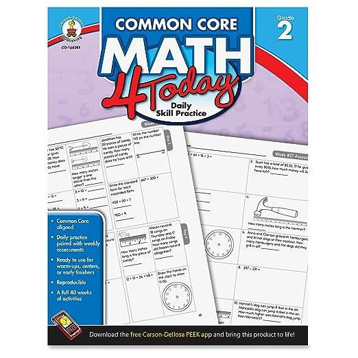 Carson Dellosa Common Core 4 Today Workbook, Math, Grade 2, 96 ...