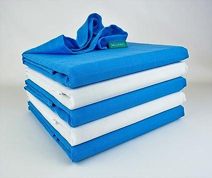Toallas de gasa | paños de algodón | 80 x 80 cm | testados para sustancias