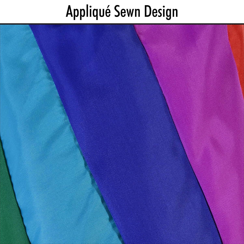 In The Breeze 40-Inch Rainbow Diagonal Windsock