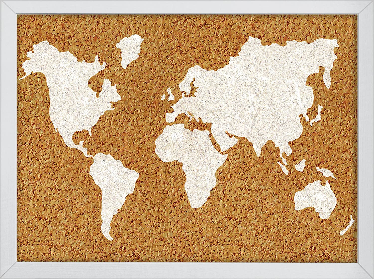 Wall Pops HB2164 The World Printed Cork Board WallPops