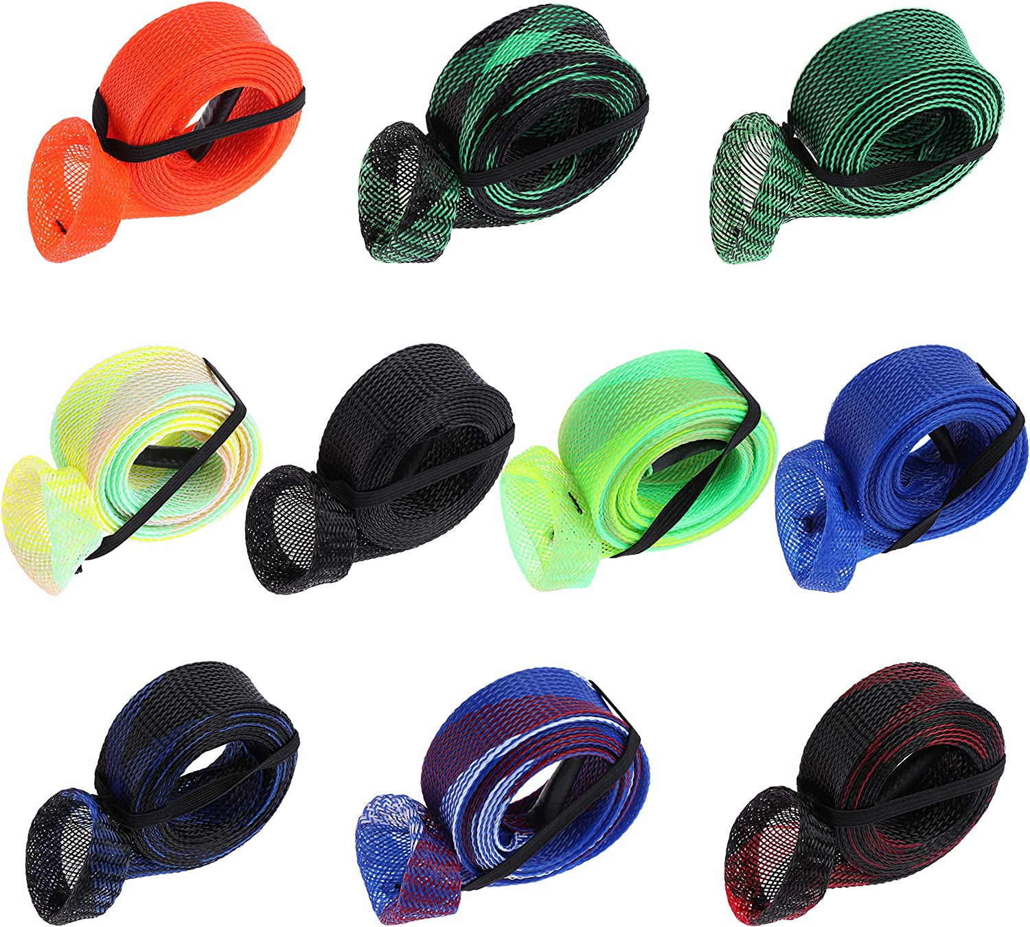 4 Pack Fishing Rod Sleeve Sock Pole Glove Protector Abrasion Proof Cover #P9A