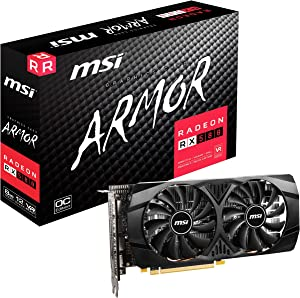 MSI Gaming Radeon Rx 580 256-bit 8GB GDRR5 HDMI/DP DirectX 12 VR Ready Crossfire Freesync Graphics Card (RX 580 8GT)