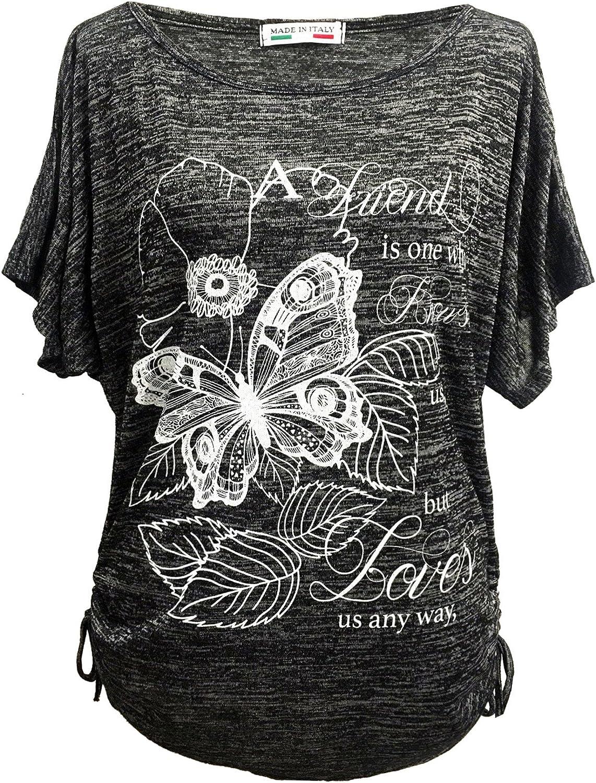 Emma /& Giovanni Donna Top T-Shirt con La Stampa