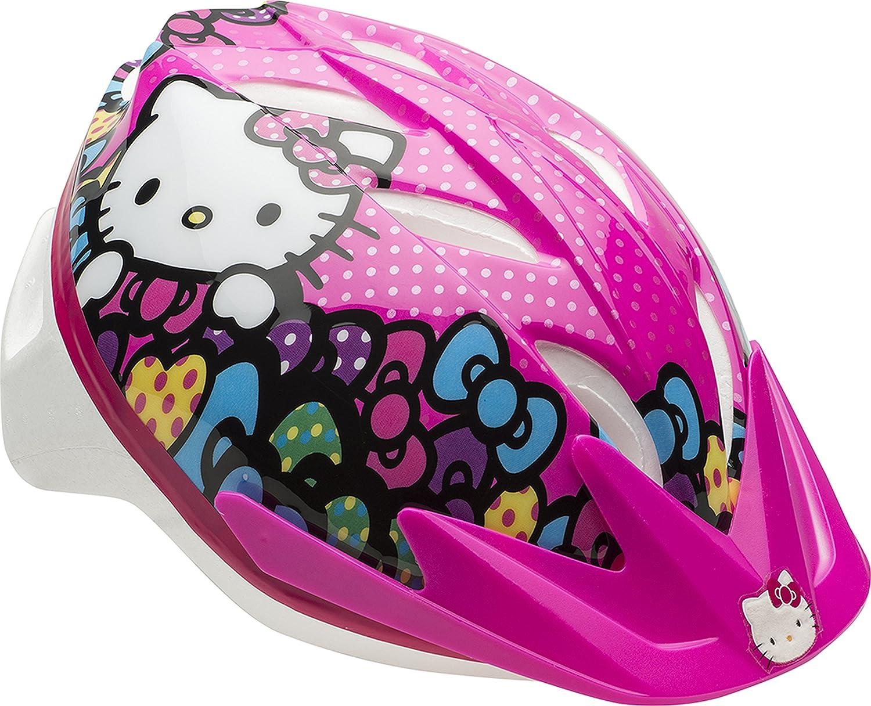 Amazon Com Bell Girls Hello Kitty Cruisin Kitty Bike Helmet Sports Outdoors