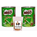 Nestle Milo Active Go Tin, 400g (Imported) - Pack of 2 + Food Library Golden Raisins, 100g