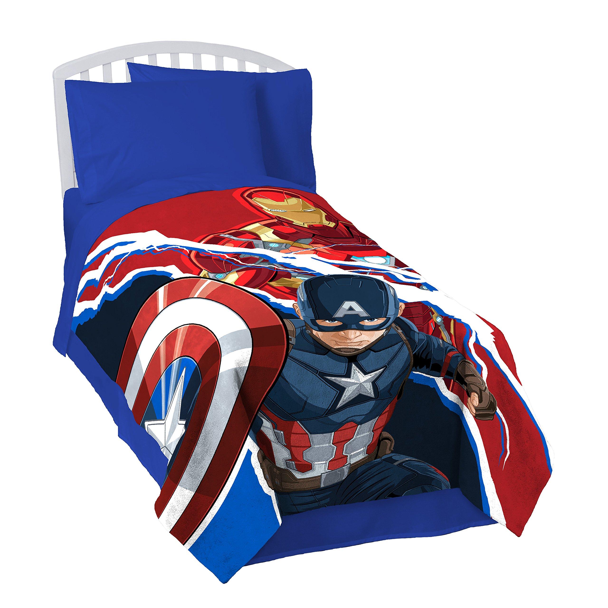 Marvel Captain America Civil War Lightning Silk Touch 62'' x 90'' Twin Blanket