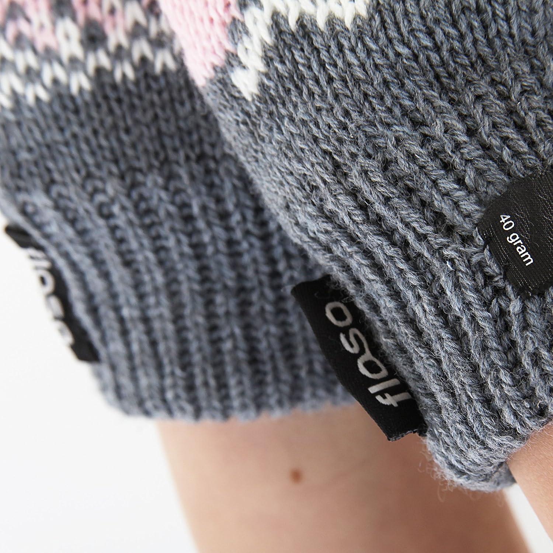 Floso FLOSO/® Damen Thermo Strick-Handschuhe mit Norweger-Muster