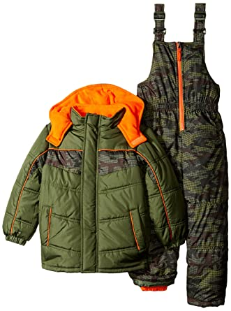 fa73c6bb4b57 Amazon.com  iXtreme Boys  Little Bb Snowsuit in Camo Print