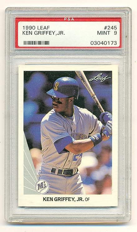 ac90a0fbdb 1990 Leaf Ken Griffey Jr. #245 Graded Mint PSA 9 - Baseball Card at ...