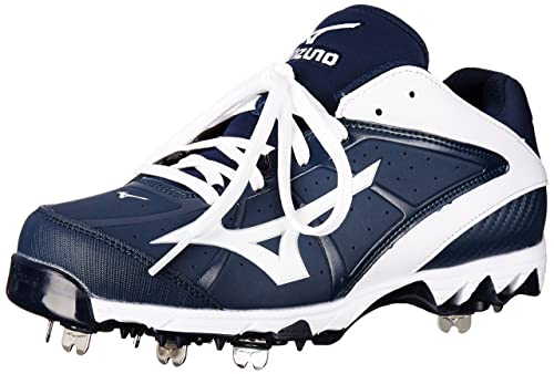 a500086b9 Mizuno 9-Spike Swift 4 Metal Fastpitch Softball Cleat - Navy White 6.5
