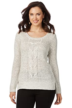 de6516d7975 Rockmans Table Eight Long Sleeve Twist Cable Knit at Amazon Women s  Clothing store
