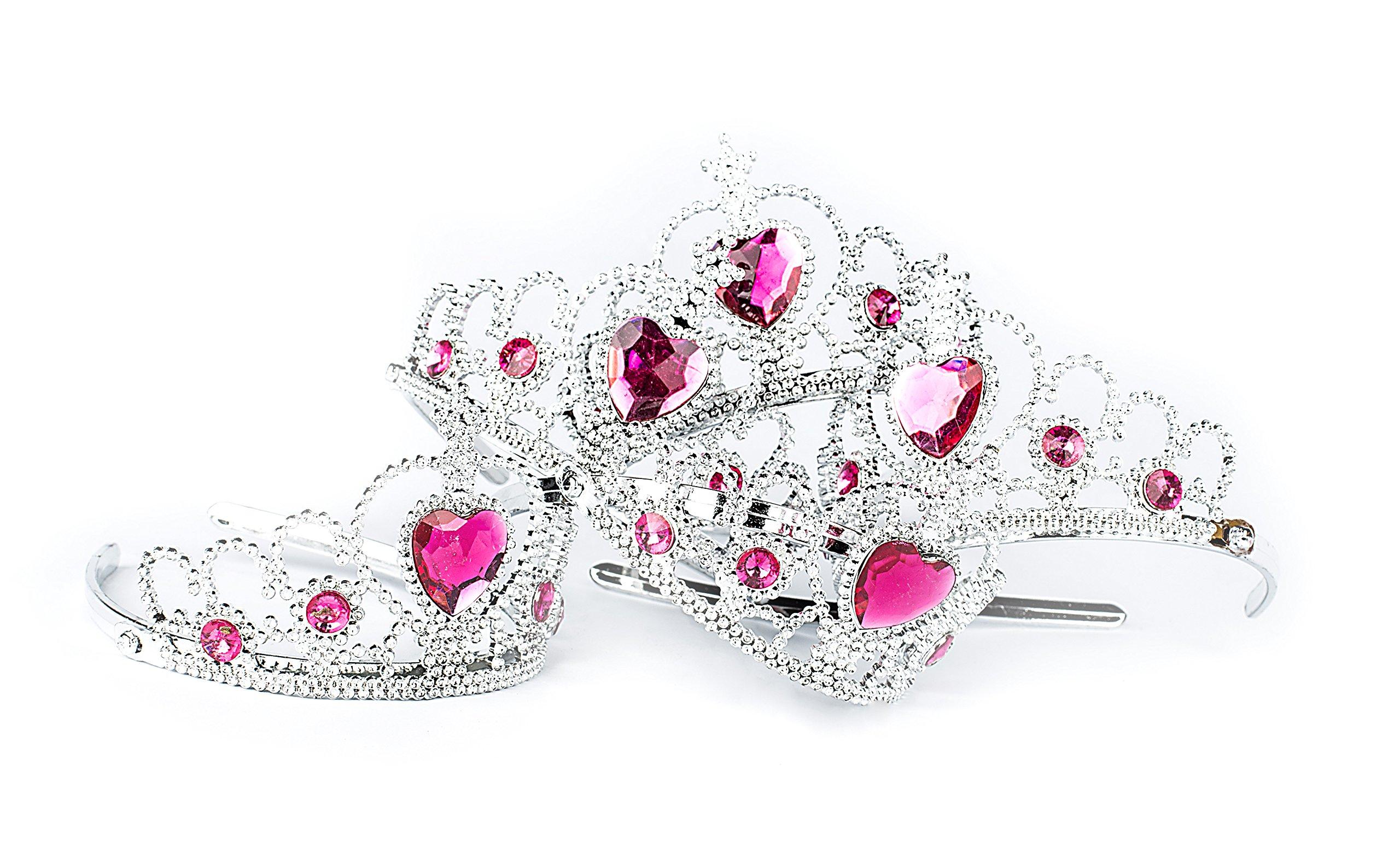 Princess Pretend Play Set - Easter Tiara Dress Up Play Set - Crowns, Wands, and Jewels - Princess Girls Party Favors - Princess Costume Party Play Set, (12 Princess Crown Tiaras, 12 Wands, 24 Rings) by Neliblu (Image #5)