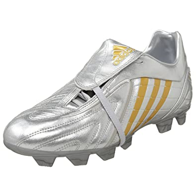 buy popular b96cc fedd2 adidas Men S Absolado Ps Trx Firm Ground Soccer Cleat,Silver Gold Gold,