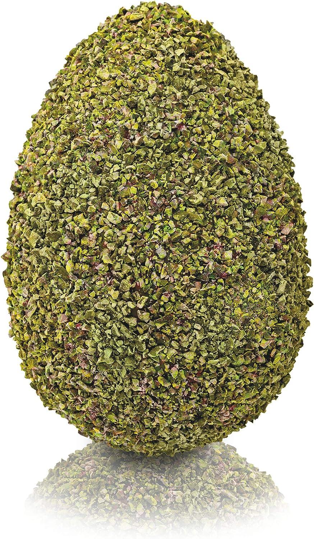 Giraudi uovo di pasqua artigianale al pistacchio con cioccolato fondente 61% e bianco