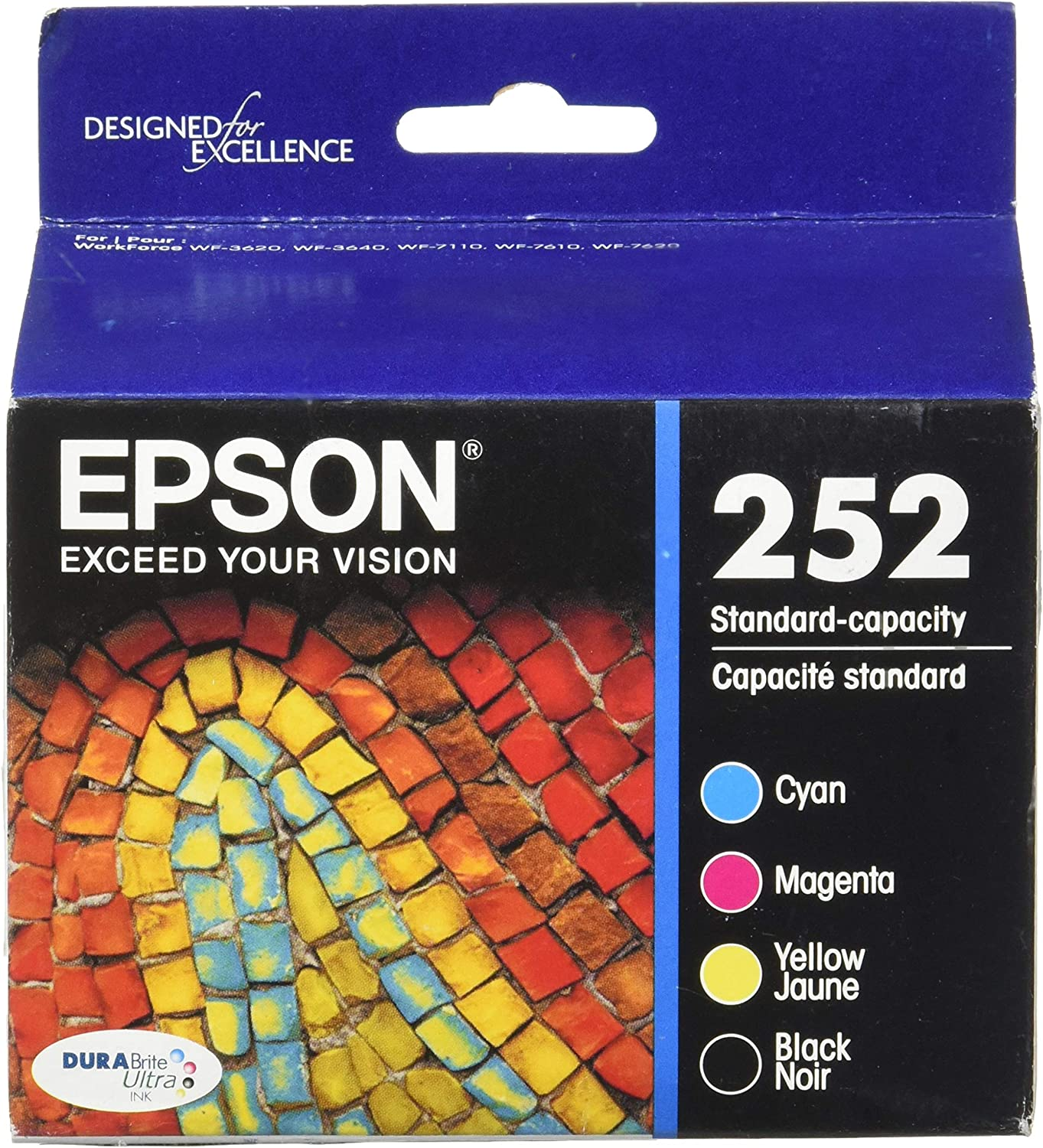 Epson DURABrite Ultra Ink T252120-BCS Ink Cartridge - Cyan, Black, Magenta, Yellow