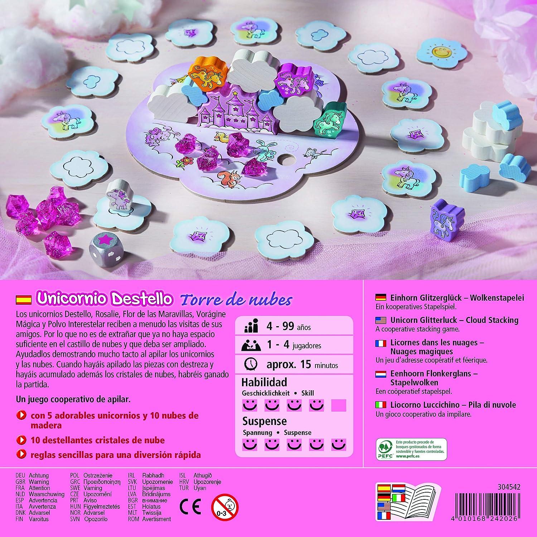 Haba- Juego de mesa, Unicornio Destello - Torre de Nubes, Multicolor (Habermass H304542) , color/modelo surtido: Amazon.es: Juguetes y juegos