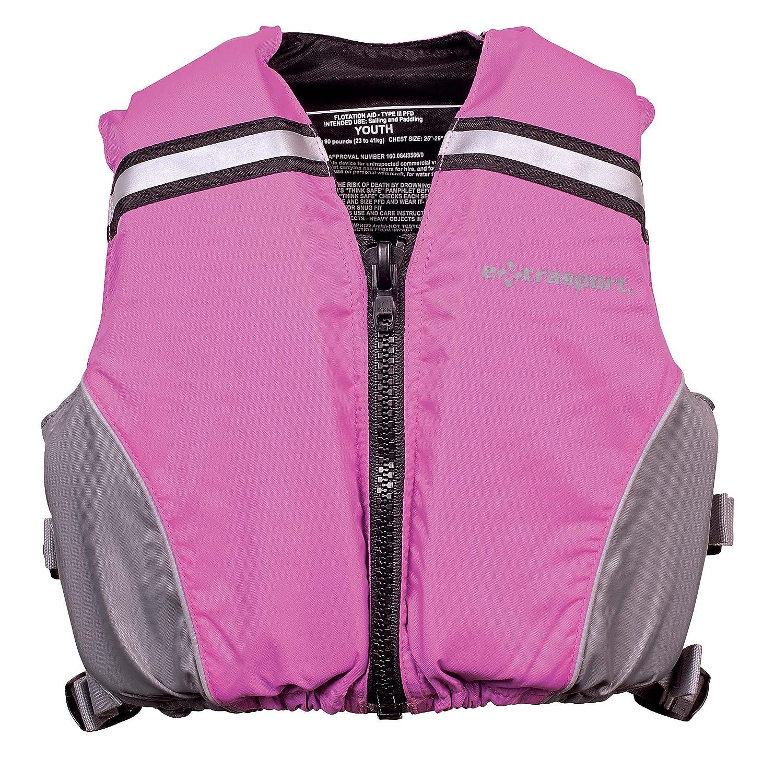 【限定価格セール!】 Extrasport Youth Flotation Volks Personal Jacket Flotation 50-90 Device/Life Jacket Fits 50-90 -Pound, Pink/Gray B006J161ZC, ハナミガワク:a408b622 --- a0267596.xsph.ru