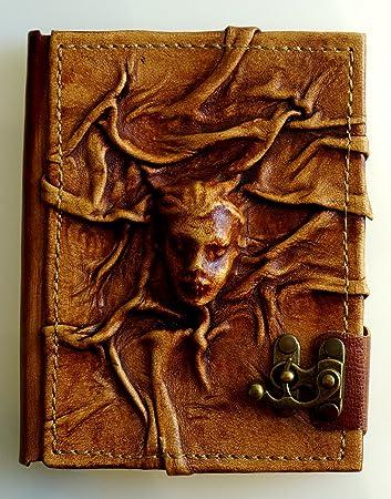 Notizbuch aus Leder braun Tagebuch Skizzenbuch Poesiealbum Notebook Gästebuch
