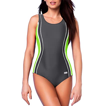 2178590885b7a Amazon.com   Gwinner Women s Agnes One Piece Padded Swimming Costume Athletic  Swimsuit Sport Training Bathing   Sports   Outdoors