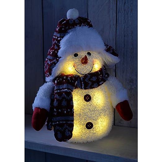 Amazon.com: WeRChristmas Pre-Lit Led Snowman With Fairisle Knitted ...