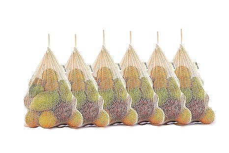 Bolsas de productos de malla reutilizables de algodón orgánico con cordón