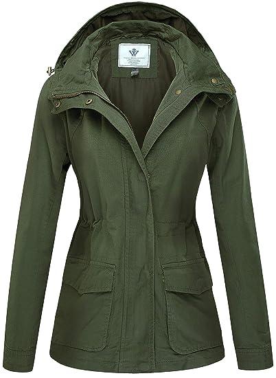 WenVen Giacca Versatile in Cotone Stile Militare Donna