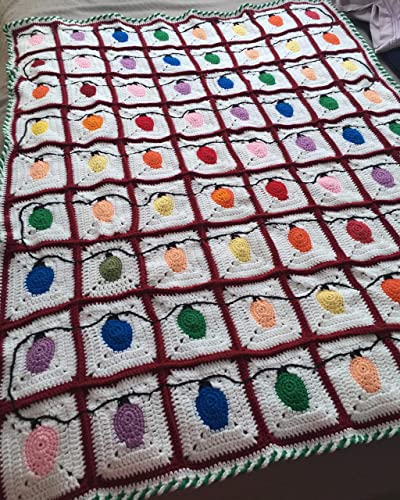 Amazoncom Crochet Christmas Light Afghan Handmade