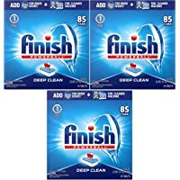 Finish - All in 1-85ct - Dishwasher Detergent - Powerball - Dishwashing Tablets - Dish Tabs - Fresh Scent Pack of 3
