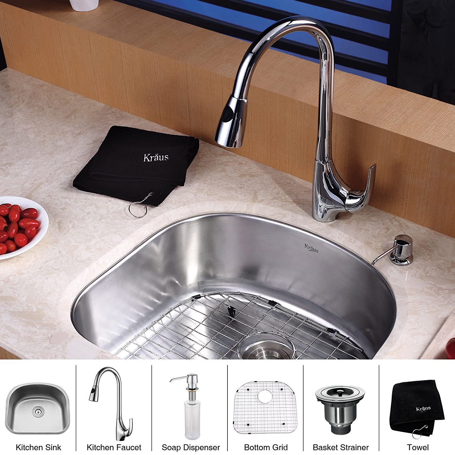 Golden Vantage 32 x 18 x 9 Handmade Top Mount Single Bowl Drop-In 18 Gauge Stainless Steel Kitchen Sink