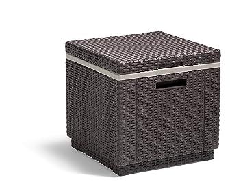 Allibert Beistelltischkühlbox Ice Cube 40 Liter Braun Amazonde