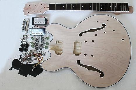 Kit de guitarra eléctrica semihueca Jazz con todas las piezas ...