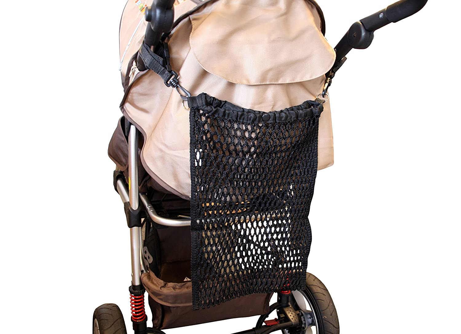 One Size Net Bag for Prams Black Buggies and Strollers
