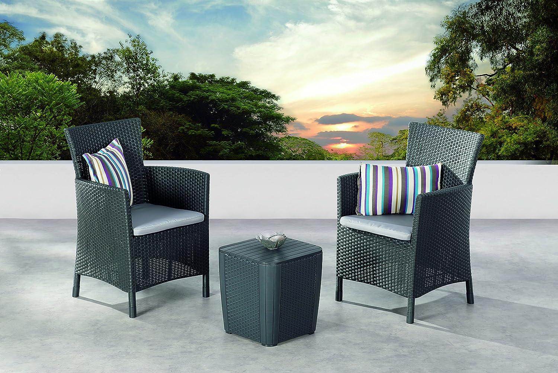 best 96115150 balkonset 3 teilig balkon set napoli graphit hellgrau g nstig. Black Bedroom Furniture Sets. Home Design Ideas