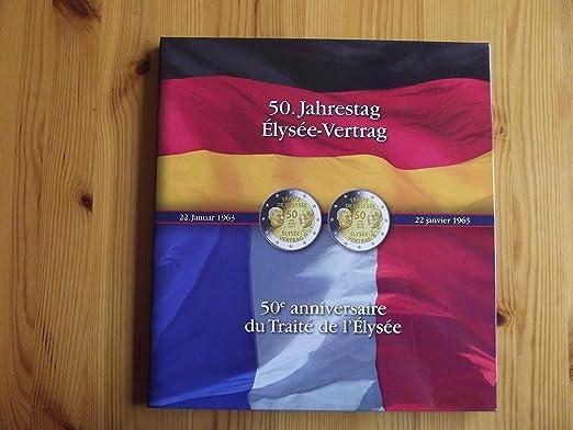 Album Presso Pour 6 Pièces De 2 Euros Commémoratives 50 Ans Du