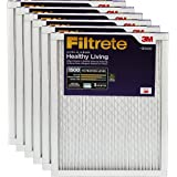 Filtrete MPR 1500 20 x 25 x 1 Healthy Living Ultra Allergen Reduction HVAC Air Filter, Captures Fine Inhalable Particles, Delivers Cleaner Air Throughout Your Home, 6-Pack