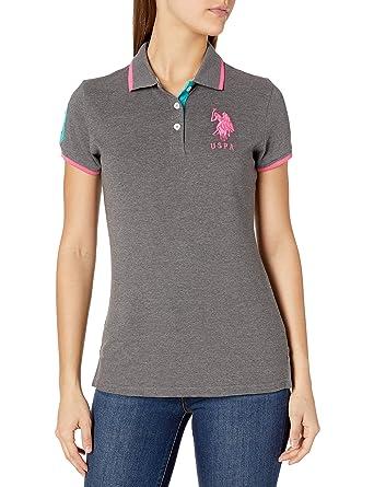 US Polo Assn Mujer 26-1112-ZH Triple Crown - Polo de piqué ...