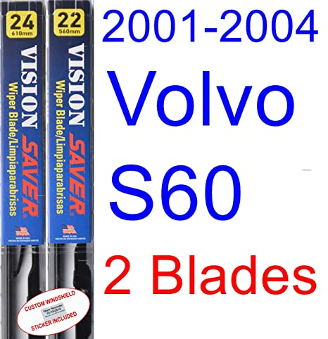 Amazon.com: 2001-2004 Volvo S60 Replacement Wiper Blade Set/Kit (Set ...