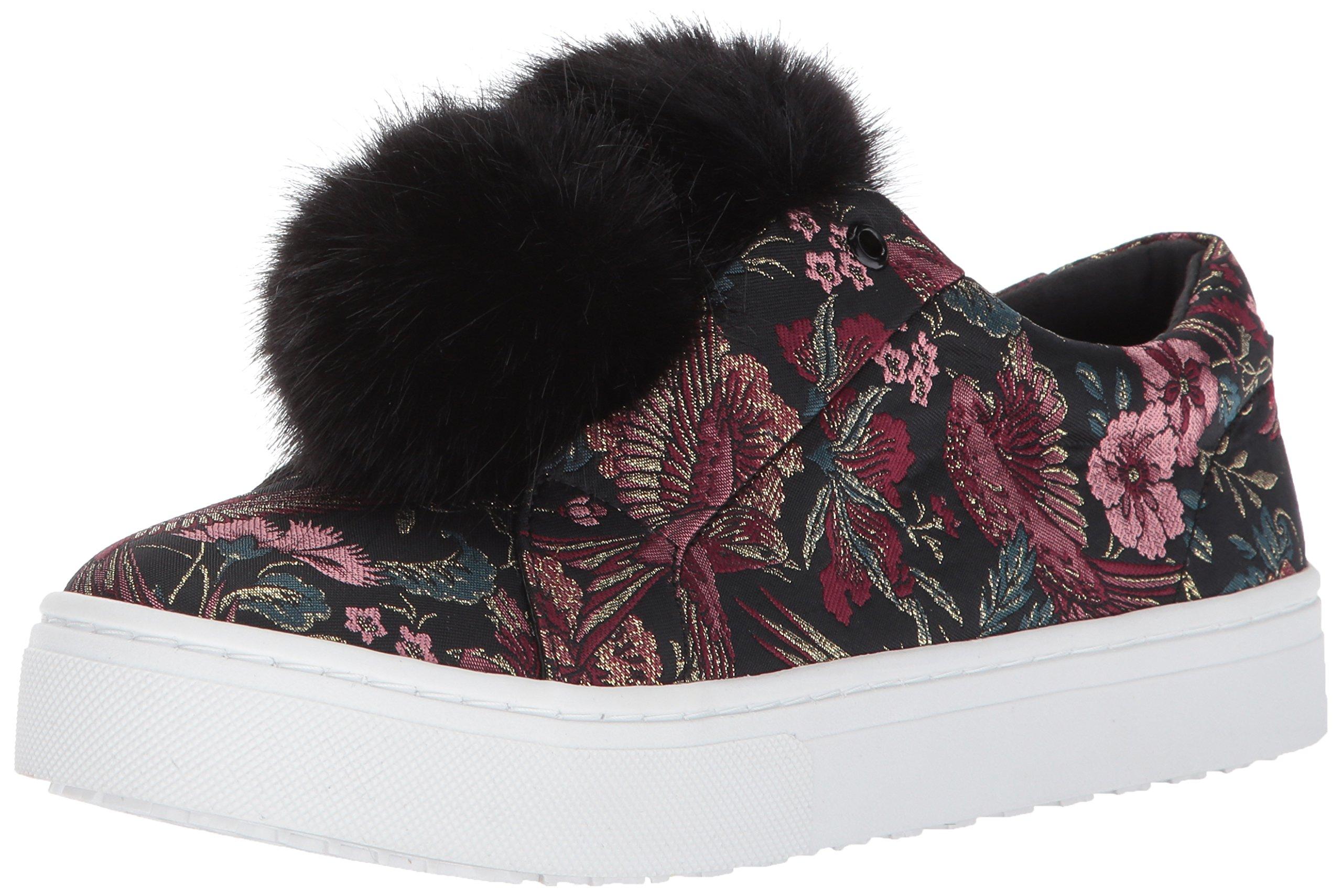 Sam Edelman Women's Leya Sneaker, Black/Multi Jacquard, 8.5 Medium US