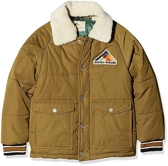 f05be51770b7e Scotch   Soda Boy s Padded Jacket with Detachable Teddy Collar in Short  Length  Amazon.co.uk  Clothing