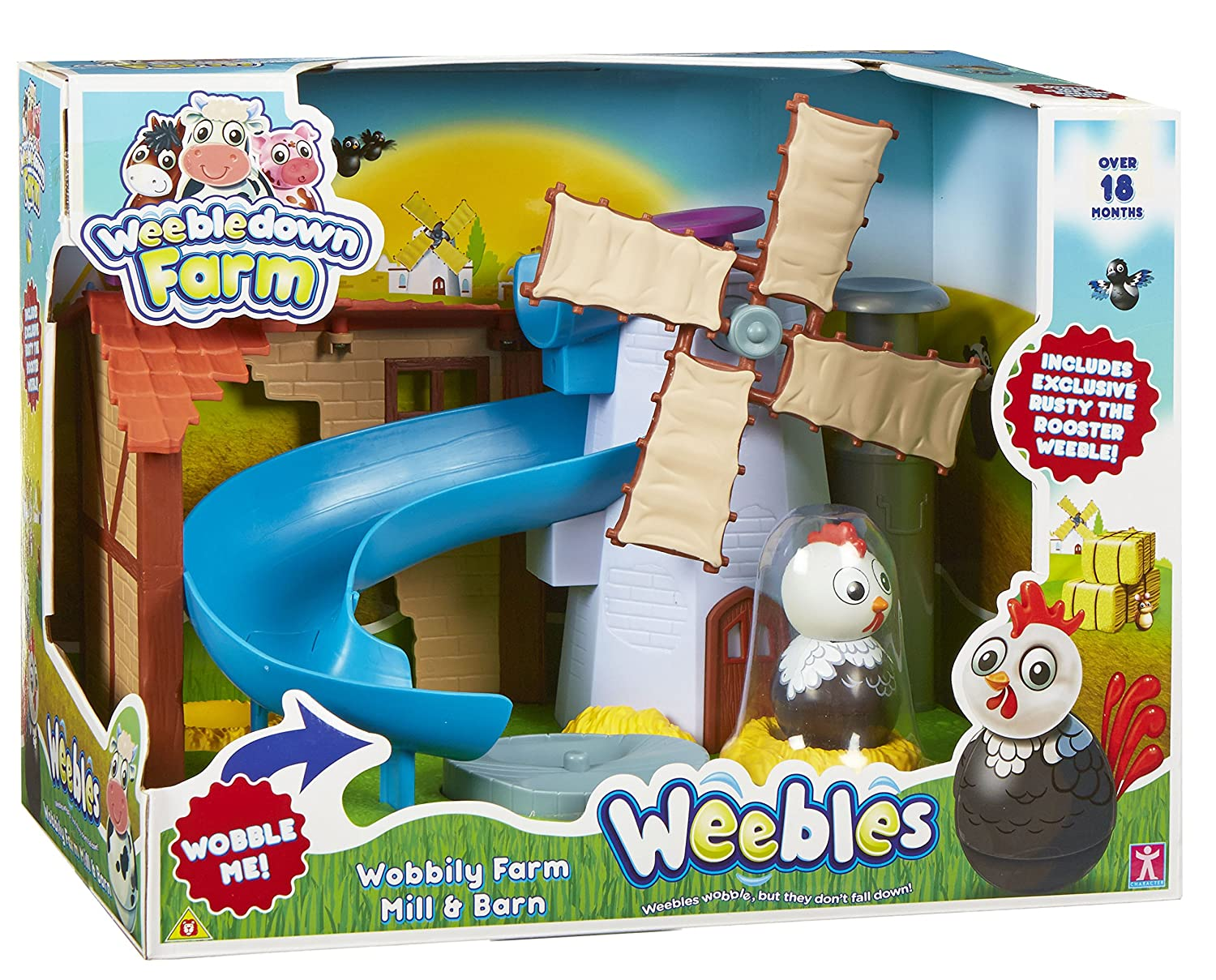 Playskool Weebles Musical Treehouse Part - 37: Amazon.com: Weebledown Farm Weebles Wobbily Farm Mill U0026 Barn Playset By  Character Options: Toys U0026 Games