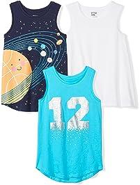 Spotted Zebra Amazon Brand Girls' 3-Pack Sleeveless Tank Tops