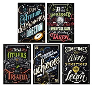 Classroom Motivational Poster | School Learning Decorations | Teacher Hanging Wall Supplies | Positive Bulletin Board Decor | First Day of School | Educational Quotes Banner | Inspirational Art