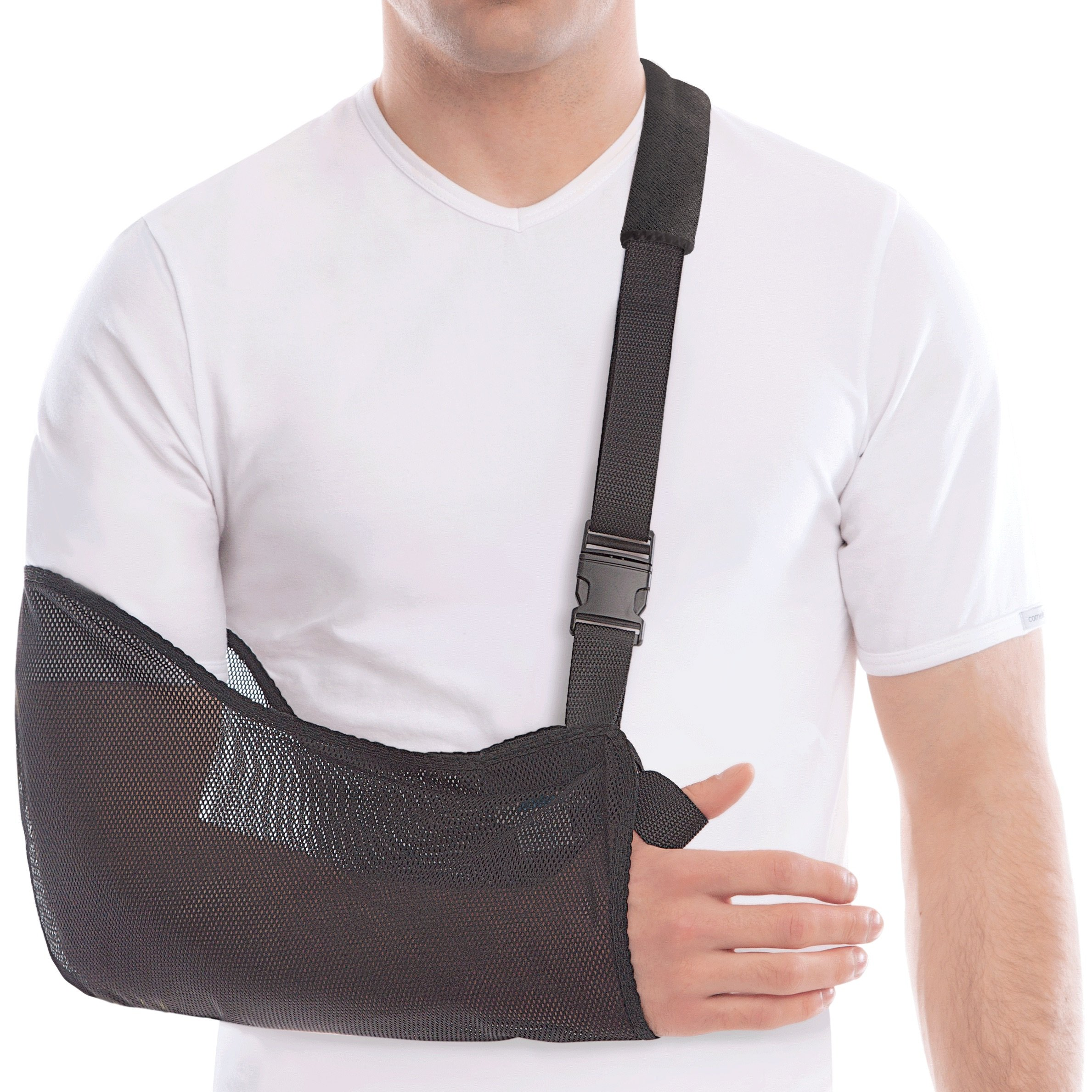 TOROS-GROUP Arm & Shoulder Support Sling - Breathable Mesh - Lightweight - Child/X-Small, Forearm 8''-11'' Black