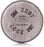 3M Advanced Particulate Filter 2297, P100 Respiratory Protection, with Nuisance Level Organic Vapor Relief (Pack of 2)